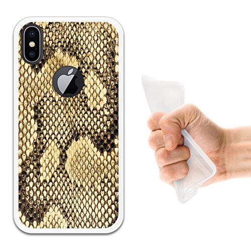 iPhone X Hülle, WoowCase Handyhülle Silikon für [ iPhone X ] Weißer und blauer Marmor Handytasche Handy Cover Case Schutzhülle Flexible TPU - Transparent Housse Gel iPhone X Transparent D0509