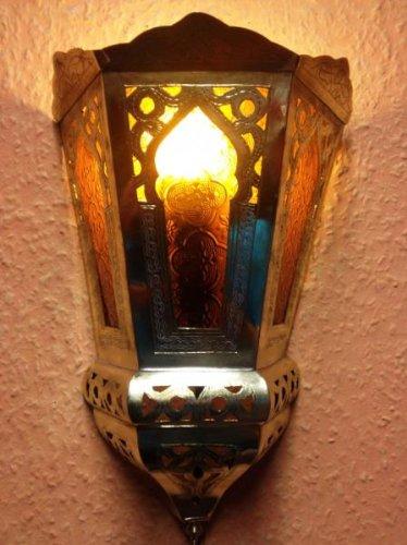 Marokkanische Wandlampe Souraya Orange