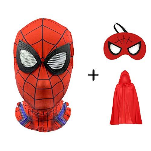 SEJNGF Spiderman Maske Lycra Cosplay Halloween Kinder Anime Head Set Requisiten,C (Mut Anime Kostüm)