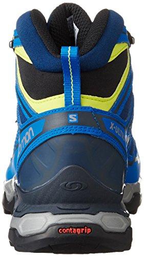 Salomon X Ultra Mid 2 GTX, Bottes de Randonnée Homme, Noir Bleu (Blue Depth/union Blue/gecko Green)