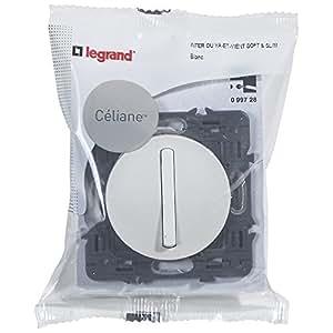 Legrand 099728 Céliane Interrupteur silencieux, 250 V, Blanc