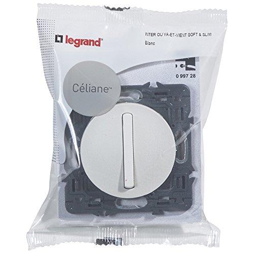Legrand Celiane LEG99728 - Interruptor o interruptor conmutado (6 A, silencioso, para...