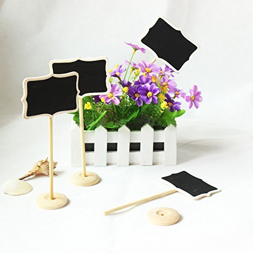 Saitec ® New hot 12 pcs DIY Mini Chalkboard Blackboards On Stick Stand Place Holder Wedding Table Decoration Seating Numbers Holiday Supplies by Saitec