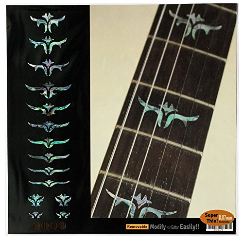 Griffbrett Marker Inlay Aufkleber Decals für Gitarre Bass-tailliert Blätter (Mix)