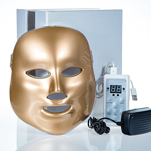 Beautystar 3 couleurs Lumière Photon LED Masque rajeunissement de la peau Beauty Therapy-d'or