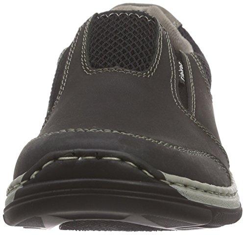 Rieker 15270 Loafers & Mocassins-men, Mocassins homme Noir - Schwarz (schwarz/schwarz/schwarz/cement / 00)