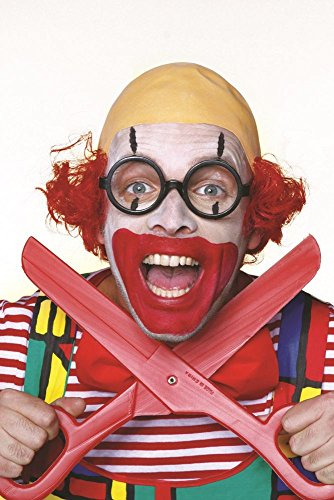 Herren Perücke Clown mit Glatze zum Kostüm Karneval Fasching (Clown Glatze Perücke)
