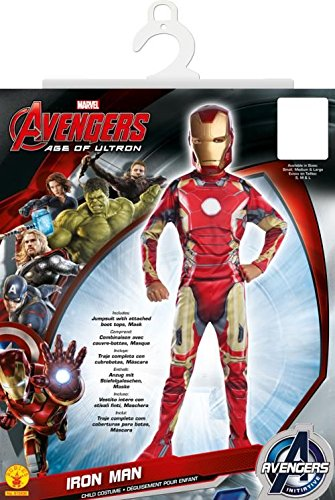 Iron Man Mark 43 Kostüm, für Kinder, Avengers Age of Ultron Outfit, groß, Alter 8–10, Höhe 142,2-152,4 ()