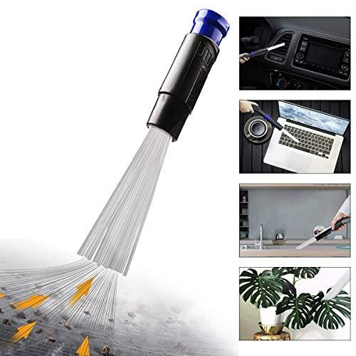 Europa, spazzola per spolverare, universale, con accessori per aspirapolvere come tv, ventola / tastiera / cassetto / auto / strumento / blu artigianale