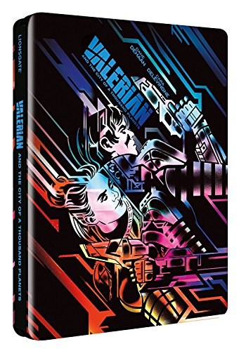 Valerian And The City Of A Thousand Planets 3D / 2D Limited Edition Steelbook / Import / Region Free Blu Ray.