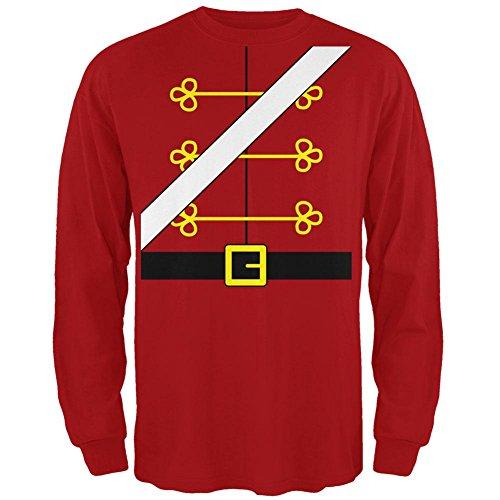 Weihnachten Spielzeug Soldat Nussknacker Kostüm Herren Long Sleeve T-Shirt rot 2XL