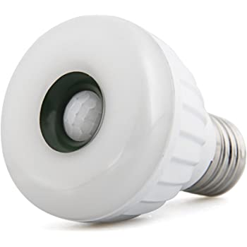 TOOGOO (R) Lampara Bombilla Luz E27 25 LED 3528 SMD Sensor Movimiento Blanco Calido