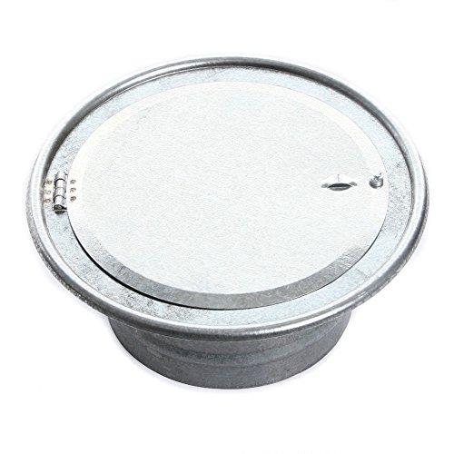 Rosette Wandrosette Kaminlochkapsel für Ofenrohre Kamin Blende Schornstein 120mm (120mm mit Klappe) von rg-vertrieb - Schornstein-klappe