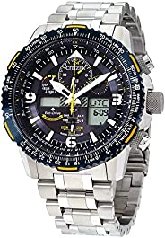 Citizen Mens Solar Powered Watch, Analog-Digital Display and Stainless Steel Strap JY8078-52L