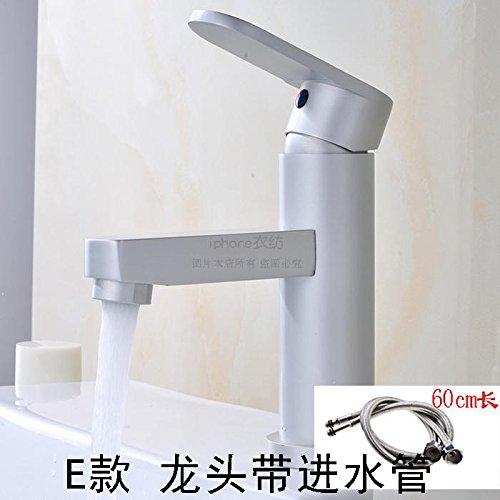 SunSuiRaum Aluminium kalte und warme Wasserhahn, Toilette, Waschbecken, Wc, Plattform, Waschbecken, Waschbecken, Waschtisch, Kalt- und drehbarem Kopf, E Wasserhahn 60 cm Zuleitung Wc-zuleitung