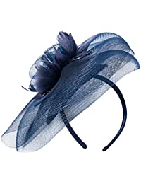 deevoov Sinamay Alice diadema tocado de plumas de flores boda Headwear Ladies Carrera Royal Ascot pastillero Cocktail Party Derby Sombrero