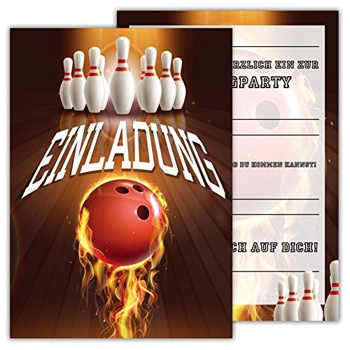 ... 12 Lustige Einladungskarten Set Kindergeburtstag Motiv Bowling Kegeln Party  Einladung Geburtstag Emoji Junge Mädchen Kinder