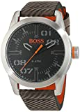 Hugo Boss Orange Oslo Men's Quartz Analogue Classic Grey Leather Strap 1513417