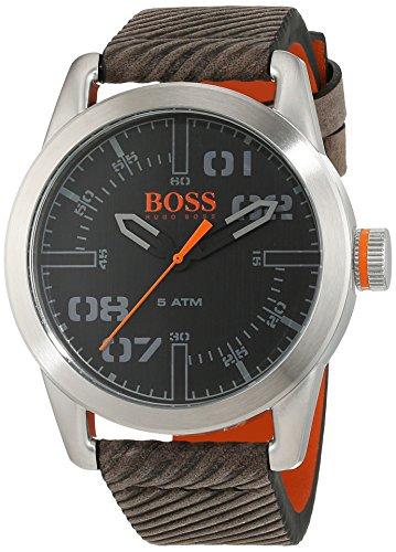Hugo Boss Orange Oslo Herren-Armbanduhr Quartz mit Leder Armband 1513417