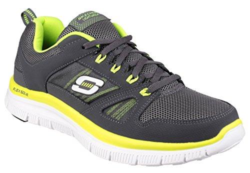 Skechers Flex Advantage Tune In, Sneaker uomo Charcoal / Lime