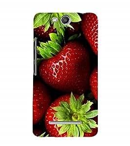 Fuson Designer Back Case Cover for Micromax Canvas Juice 3 Q392 (red Strawberries Juicy Juicy Strawberries Berries)