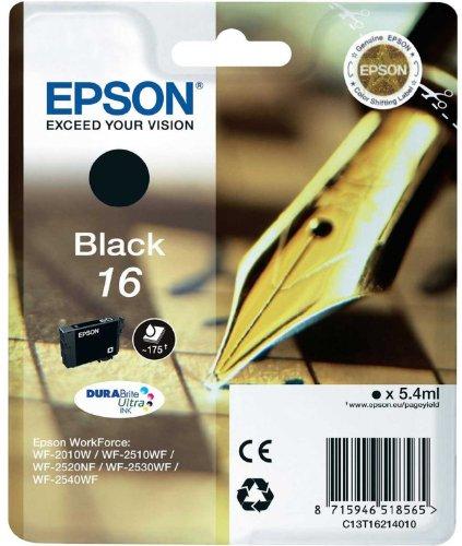 epson patronen 16 Epson Original T1621 Füller, wisch- und wasserfeste Tinte (Singlepack) schwarz