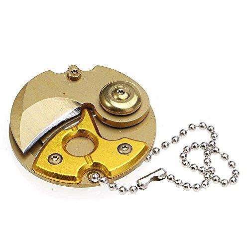Mini bewegliches Münzen faltendes Messer Keychain EDC im Freientaschen Überlebens Werkzeuge Titanium Farbe (Münze Mini)