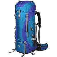 greenlan Outdoor Sport impermeabile escursioni Campeggio Avventura Zaino 65L Zaino zaino da viaggio zaino da trekking con parapioggia (può Prolunga per 75L), Gl-818, Blue, 65 l