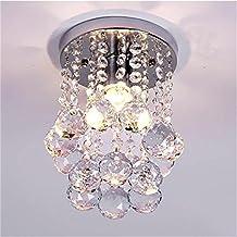 goeco lmpara del techo candelabro de cristal luces de techo led inoxidable para la sala de