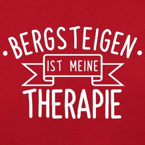 Bergsteigen ist meine Therapie - Herren T-Shirt - 13 Farben Rot