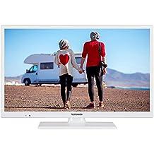 Telefunken XH24D401VD-W 61 cm (24 Zoll) Fernseher (HD ready, Smart TV, Triple Tuner, DVD Player)