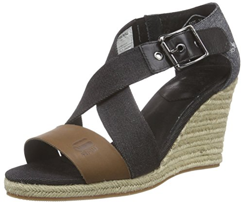 G-Star Raw Donna, Sandali Del Vestito, Luxar Wedge, Nero (Raven-976), 39