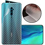 Case Creation Ultra Thin Slim Fit 3M Clear Transparent 3D Carbon Fiber Back Skin Rear Screen Guard Protector Sticker Protective Film Wrap Not Glass for Oppo Reno 10x Zoom (Carbonn)