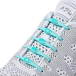 Hickies Cordones silicona(14 Unidades, Funciona con todas las zapatillas)