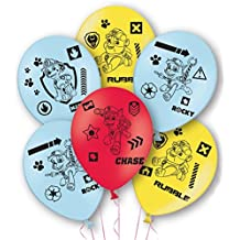 Paquete de 6 globos de la Patrulla Canina para niños de látex para fiestas, decoración gigante para perro, hinchable foto Prop