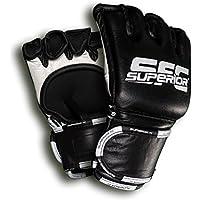SFC® Superior FC Oficial Lucha Guantes Fight MMA Guantes, negro, medium