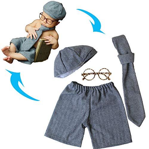 AIYObaby Neugeborenes Baby Fotografie Requisiten Junge Mädchen Kostüm Outfits Niedlichen Hut Hosen/Halloween Kürbis Kostüm ()
