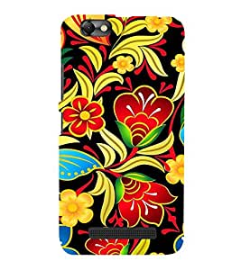Fiobs Designer Back Case Cover for Lenovo Vibe C :: Lenovo A2020 (Flowers Designs Circles Patterns Beautiful )