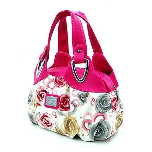 Borse Donna,Sacchetto di polso delle donne di stampa di modo,Borsette da polso Rosso con rose