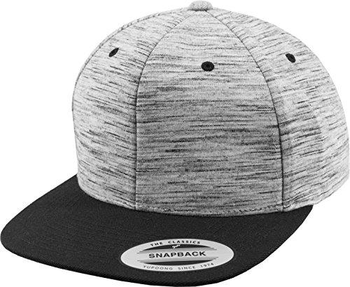 Flex fit Stripes Melange Crown Snapback blk/gry One Size Casquette Unisex-Adult