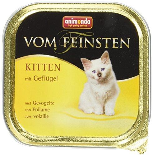 Animonda Vom Feinsten Kitten Geflügel Nassfutter für junge Katzen, 32 x 100 g