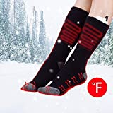 Heated Socks, USB Rechargeable Adjustable Temperature Heating Socks Foot Warm Equipment for outdoor
