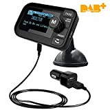 DAB+ Radio Adapter FM Transmitter Bluetooth Kfz Freisprecheinrichtung for Auto