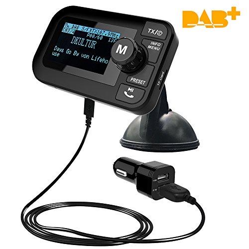 DAB+ Radio Adapter FM Transmitter Bluetooth Kfz Freisprecheinrichtung for Auto