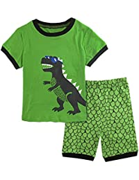 Mombebe Infantil Pijamas Niño Dinosaurio Manga Corta Pyjamas Set
