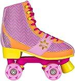 Nijdam Mädchen Roller Skate Chevron Size 37/38, Pink/Orange, 37-38