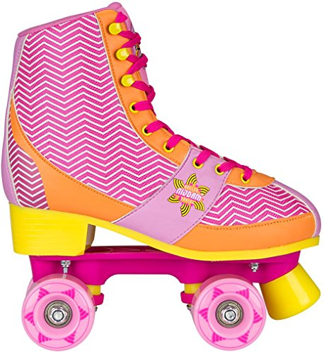 Nijdam Mädchen Roller Skate Chevron Size 33/34, Pink/Orange, 33-34