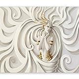murando - Fototapete 400x280 cm - Vlies Tapete - Moderne Wanddeko - Design Tapete - Wandtapete - Wand Dekoration - Ornament GÖTTIN h-A-0049-a-b