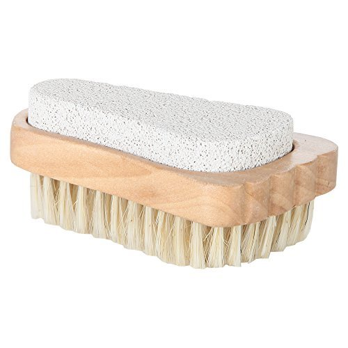 Home-X Wooden Foot Brush and Pumice