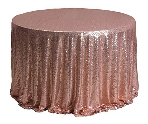 Liveinu tovaglia con paillette lustrini sequins tovaglia da sposa tablecloth runner da tavola per matrimoni neonati e feste 30x275cm oro rosa
